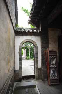 photo,material,free,landscape,picture,stock photo,Creative Commons,The PenglaiPavilion side gate, An arch, lofty building, Dishonest measures, sightseeing spot