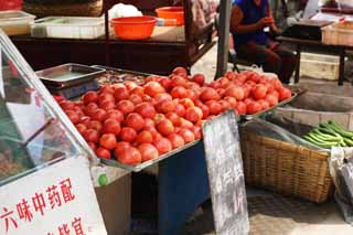 photo,material,free,landscape,picture,stock photo,Creative Commons,A deep red profit market, market, street stall, Shopping, Life