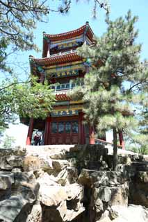 photo,material,free,landscape,picture,stock photo,Creative Commons,Summering mountain cottage Jinshan Emperor Pavilion, Ishigaki, Rich coloring, Kanayama Island, Ch'ing