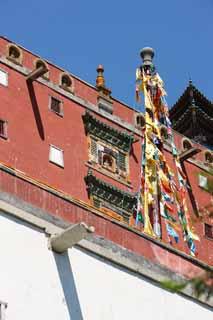 photo, la mati�re, libre, am�nage, d�crivez, photo de la r�serve,Putuo Zongcheng temple, Tibet, Chaitya, , Rouge et blanc