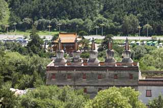 photo, la mati�re, libre, am�nage, d�crivez, photo de la r�serve,Putuo Zongcheng temple, Tibet, Chaitya, Je suis splendide, tour blanche