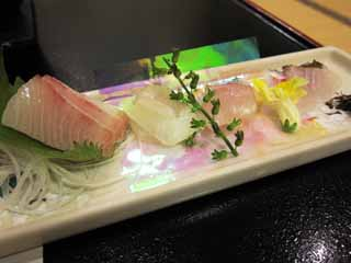 photo, la mati�re, libre, am�nage, d�crivez, photo de la r�serve,Sashimi, Nourriture japonaise, br�me de mer, blanc, Purpurascens Seriola