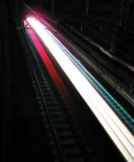 photo,material,free,landscape,picture,stock photo,Creative Commons,The ray of light of the train, train, headlight, Light, track