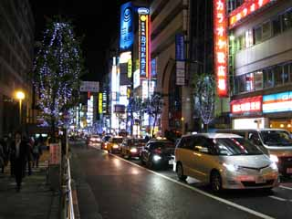 photo,material,free,landscape,picture,stock photo,Creative Commons,According to the ward office, Illuminations, Kabukicho, ward office, car