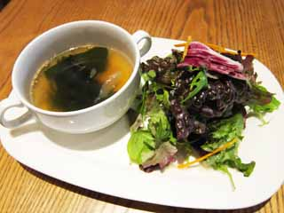 photo,material,free,landscape,picture,stock photo,Creative Commons,Seaweed soup, Seaweed, , lettuce, Salad