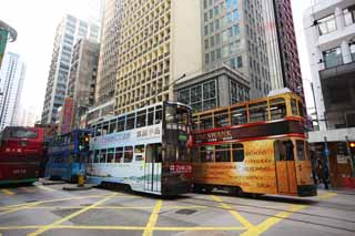 photo,material,free,landscape,picture,stock photo,Creative Commons,According to Hong Kong, car, taxi, streetcar, double-decker