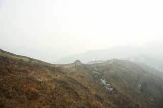 photo,material,free,landscape,picture,stock photo,Creative Commons,Mu Tian Yu Great Wall, castle wall, lookout in a castle, The Hsiung-Nu,