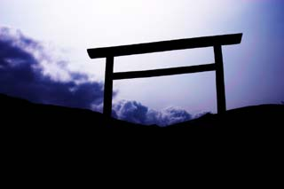 photo, la mati�re, libre, am�nage, d�crivez, photo de la r�serve,R�ve d'un torii, porte du torii, nuage, ciel, �le