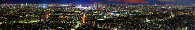 photo,material,free,landscape,picture,stock photo,Creative Commons,Tokyo panorama, building, Ikebukuro, Neon,