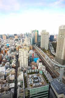 photo,material,free,landscape,picture,stock photo,Creative Commons,Tokyo panorama, building, The downtown area, Shiodome, The Shinkansen