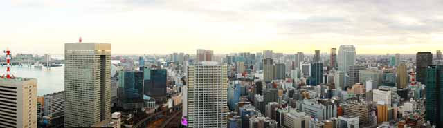 photo,material,free,landscape,picture,stock photo,Creative Commons,Tokyo panorama, building, The downtown area, Tamachi, Odaiba