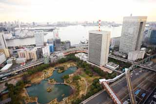 photo,material,free,landscape,picture,stock photo,Creative Commons,Tokyo panorama, building, The downtown area, An old turf imperial villa royal gift garden, Toyosu