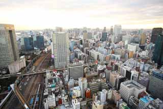 photo,material,free,landscape,picture,stock photo,Creative Commons,Tokyo panorama, building, The downtown area, Tamachi, track