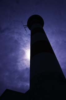 photo, la mati�re, libre, am�nage, d�crivez, photo de la r�serve,Temps fil� par le phare, phare, nuage, soleil, silhouette