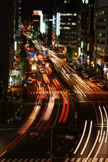 photo,material,free,landscape,picture,stock photo,Creative Commons,Night of Sakurada Street, headlight, trace of light, taillight, automobile