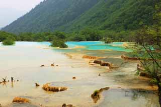photo,material,free,landscape,picture,stock photo,Creative Commons,Huanglong five colors pond, , , ,