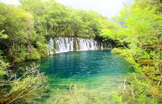 photo,material,free,landscape,picture,stock photo,Creative Commons,Jiuzhaigou Yatakeumi Waterfall, , , ,