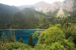 photo, la mati�re, libre, am�nage, d�crivez, photo de la r�serve,Cinq couleurs de Jiuzhaigou pond, , , ,