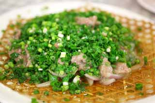 photo,material,free,landscape,picture,stock photo,Creative Commons,Place meat stir-fried green onions, , , ,