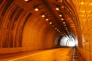 photo, la mati�re, libre, am�nage, d�crivez, photo de la r�serve,Couleur orange d'un tunnel, tunnel, lampe du sodium, orange, sortie