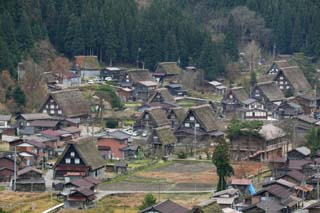 photo, la mati�re, libre, am�nage, d�crivez, photo de la r�serve,Shirakawago commander, Architecture avec ridgepole principal, Couvrir de chaume, maison priv�e, d�cor rural