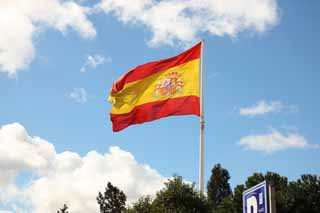 photo,material,free,landscape,picture,stock photo,Creative Commons,Spanish flag, , , ,