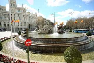 photo,material,free,landscape,picture,stock photo,Creative Commons,The fountain of Cibeles, , , ,