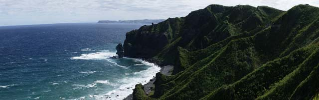 photo, la mati�re, libre, am�nage, d�crivez, photo de la r�serve,� la mer de Japon, falaise, Eau, montagne, vague