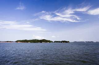 photo,material,free,landscape,picture,stock photo,Creative Commons,Matsushima, island, blue sky, cloud, The sea
