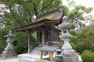photo, la mati�re, libre, am�nage, d�crivez, photo de la r�serve,Un petit temple, petit temple, petit temple, panier de la lanterne de pierre, B�timent du Japonais-style