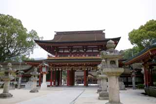 photo, la mati�re, libre, am�nage, d�crivez, photo de la r�serve,Temma, temple Dazaifu, Michizane Sugawara, panier de la lanterne de pierre, Temple shinto�ste, D�cor