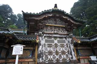 photo, la mati�re, libre, am�nage, d�crivez, photo de la r�serve,Une porte du Chinois-style de Tosho-gu Temple, Porte du Chinois-style, patrimoine de l'humanit�, sculpture, JAL