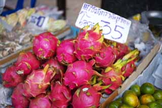 photo,material,free,landscape,picture,stock photo,Creative Commons,Dragon fruit, Dragon fruit, Fruit, fruit shop,