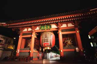 photo, la mati�re, libre, am�nage, d�crivez, photo de la r�serve,Kaminari-mon Porte, Mt. dragon de l'argent, Asakusa, visiter des sites pittoresques tache, Rev�tement int�rieur de magasins un couloir
