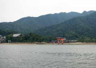 ����, ������������, ���������, ������, ����������, ���� �����.,Itsukushima-������� Shrine, ������� ���������� ��������, Otorii, Shinto shrine, � cinnabar �������