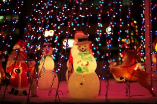 photo,material,free,landscape,picture,stock photo,Creative Commons,A snowman of a smile, X'mas, Illuminations, light, I am beautiful