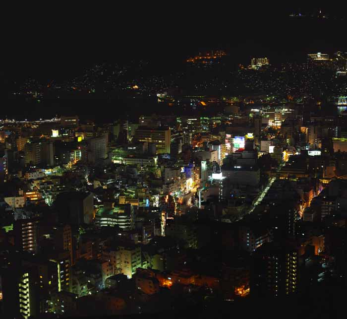photo,material,free,landscape,picture,stock photo,Creative Commons,A night view of Nagasaki, Illumination, streetlight, It is lighted up, Nagasaki Port