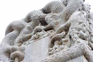 photo,material,free,landscape,picture,stock photo,Creative Commons,Traditional stone of the mausoleum no definite, Stone monument, Royal Tombs, Long, Dragon