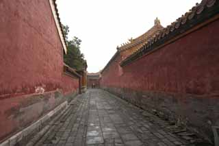 photo,material,free,landscape,picture,stock photo,Creative Commons,Forbidden City passage, Zhu coating, Wall, Cobblestone, World Heritage