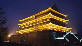 photo,material,free,landscape,picture,stock photo,Creative Commons,Drum Tower in Xi'an, Drum Tower, Chang'an, History, Courier