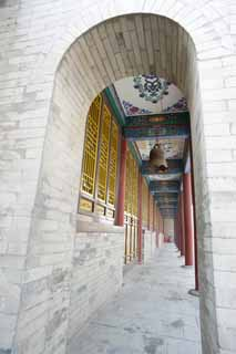 photo,material,free,landscape,picture,stock photo,Creative Commons,Corridor in Temple of Great Mercy and Goodness, Bell, Full color, Arch, The window