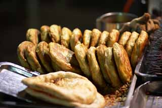 photo,material,free,landscape,picture,stock photo,Creative Commons,The fried bread stand, Bread, Stalls, Round, Islam
