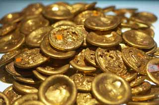 photo,material,free,landscape,picture,stock photo,Creative Commons,Gold Disks, Gold coin, Money, Ancient China, Treasure