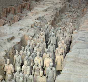 photo, la mati�re, libre, am�nage, d�crivez, photo de la r�serve,Terracotta Warriors dans des fosses no.1, Guerriers de la terre cuite, Gens anciens, Tombe, H�ritage Mondial