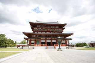 photo, la mati�re, libre, am�nage, d�crivez, photo de la r�serve,Temple Yakushi-ji temple int�rieur, Je suis peint en rouge, Le Bouddha de gu�rir, Monast�re bouddhiste, Chaitya