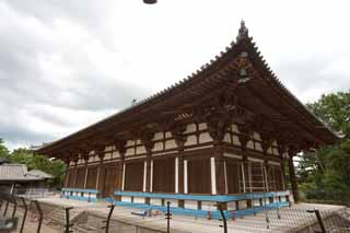 photo, la mati�re, libre, am�nage, d�crivez, photo de la r�serve,Temple Toshodai-ji temple int�rieur, toit branch�, , Monast�re bouddhiste, Chaitya
