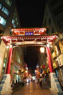 photo, la mati�re, libre, am�nage, d�crivez, photo de la r�serve,Kobe Nankinmachi, Chinatown, Une arcade, En ville, Chine