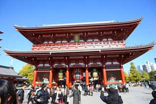 photo, la mati�re, libre, am�nage, d�crivez, photo de la r�serve,Temple Senso-ji Hozo-mon porte, visiter des sites pittoresques tache, Temple Senso-ji, Asakusa, lanterne