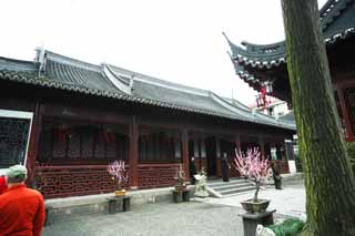photo, la mati�re, libre, am�nage, d�crivez, photo de la r�serve,Yuyuan Garden point temple de la source, Joss logent le jardin, , Style de la nourriture chinois, Je suis peint en rouge
