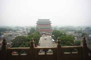 photo, la mati�re, libre, am�nage, d�crivez, photo de la r�serve,Une tour du tambour de Beijing, tambour, Keijo, , Yasushi porte Universit� rue moulue